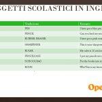 Nomi degli oggetti scolastici in inglese