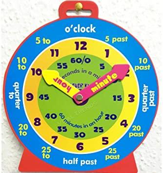orologio in inglese per bambini