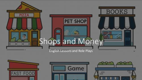 shops and money