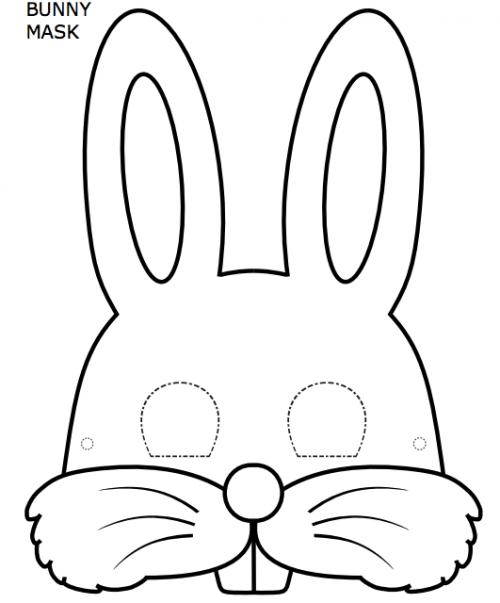 Scheda coniglietto pasquale inglese